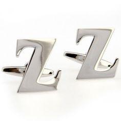 Silver Letter Z Cufflinks