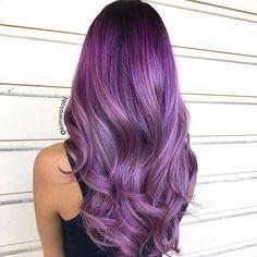 63 Purple Hair Color Ideas to Swoon over: Violet & Purple Hair Dye Tips Hair-Nails Style Color Dye Hair ideas purple Swoon Tips Violet Violet Hair Colors, Dyed Hair Purple, Hair Color Purple, Purple Ombre, Purple Streaks, Pink Color, Pastel Purple, Green Hair, Pink Hair