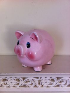 Vintage Piggy Bank by AnnaJana on Etsy, $15.00  cute little thing!!
