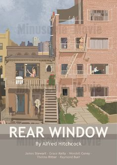 Rear Window Movie Print Poster Alfred by MinusculeMotion on Etsy