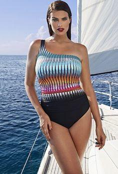 5cbea89282716 New Arrivals - Tropiculture Hvar One-Shoulder Swimsuit Swimsuit Cover Ups