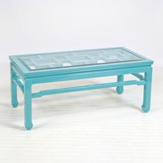 Changright Coffee Table- Turquoise - Clayton Gray Home