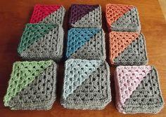 Unique Avanav Driehoek In Een Vierkant Granny Crochet Triangles Of Charming 42 Images Crochet Triangles Crochet Triangle Pattern, Crochet Squares, Crochet Motif, Crochet Yarn, Crochet Stitches, Love Crochet, Crochet Patterns, Crochet Diagram, Crochet Afghans