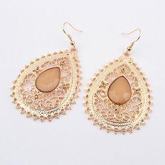 Fringed Gemstone Earrings