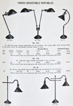 Vintage Industrial Decor highly desirable c. 1910 vintage industrial faries adjustable c-arm desk or… - Antique Lamps, Antique Lighting, Industrial Lighting, Vintage Lamps, Vintage Decor, Vintage Designs, Vintage Industrial Decor, Industrial Chic, Industrial Design