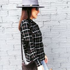 Love the personalized details of this shirt: check out the elbow patches! Designed by on (link in bio! Suits For Women, Women Wear, Suit Fabric, Elbow Patches, Photos Of The Week, Outfit Of The Day, Plaid, Luxury, Stylish