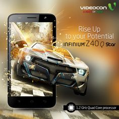 Get ready for flawless multitasking and an impressive gaming experience with the #Videocon Infinium Z40Q Star. -http://www.videoconmobiles.com/z40q-star-timeless-elegance