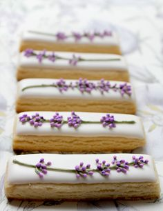 Crazy pretty. Lavender cookies.
