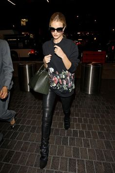 Rosie Huntington Whiteley is seen arriving at LAX airport.