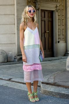 Dreamy summer sheers #streetstyle #inspiration