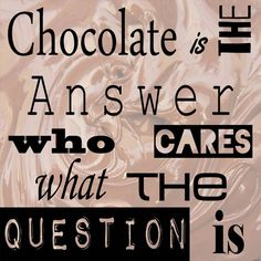 Chocolate is the Answer - square Fine Art Print by Veruca Salt at FulcrumGallery.com