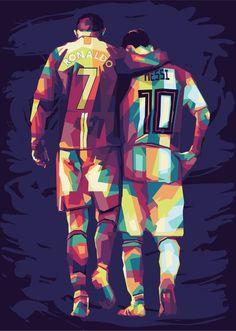 Messi Vs Ronaldo, Cristiano Ronaldo Lionel Messi, Soccer Art, Soccer Poster, Neymar Barcelona, Liverpool Team, Cristiano Ronaldo Wallpapers, Football Fever