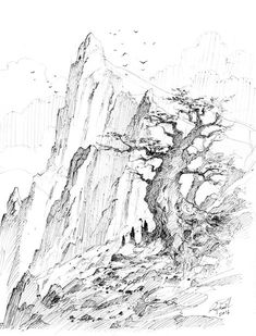 426 best drawing landscape environment images in 2019 van gogh Greek Revival House image of mystic tree 8 x 10 inches print graphite drawings pencil drawings