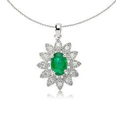 Colierul LDNA0054 din aur alb este o reprezentare a feminității, prin combinarea diamantelor cu smaraldul central.   #whitegold #goldjewelery #womenjewelery #emerald #diamonds #necklace Aur, Turquoise Necklace, Jewelry, Pink, Diamond, Jewlery, Jewerly, Schmuck, Jewels