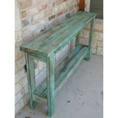 Rustic Sofa Table Wall Table Decor Table Entry Way Table Made From... (715 BRL) ❤ liked on Polyvore featuring home, furniture, tables, accent tables, grey, home & living, reclaimed wood furniture, painted accent tables, gray table and grey table