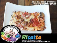 Base per pizza croccante Low Carb per chetogenica