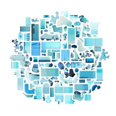 """""""125 Swimming Pools"""" satellite imagery  by Jenny Odell"""