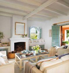 sala blanca mediterranea | Casa Haus