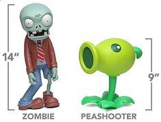 Estatura del Zombies y estatura de la planta