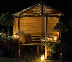 New for 2014, the Venetian Corner Arbour is designed to fit into a garden corner. It will make the most relaxing location in which to relax on a summer's day. The arbour also looks tremendous, manufactured using top quality softwood and with a venetian style slatted roof. Cool and light, its design is contemporary with enough room for four people. Dimensions: H 240cm, W 233cm, D 161cm.
