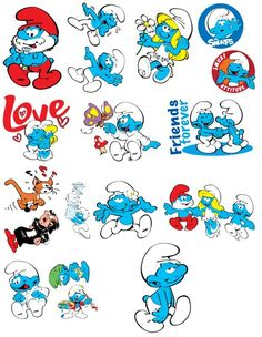 smurfs characters | The Smurfs Jumbo Stickers Colouring Pics, Cartoon Coloring Pages, Best 90s Cartoons, Walt Disney, Adventure Time Cartoon, Star Wars Stickers, Bear Drawing, Smurfette, Lion Art