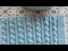 Crochet Stitches Free, Knitting Stiches, Baby Hats Knitting, Knitting Videos, Sweater Knitting Patterns, Knit Patterns, Crochet Designs, Knitting Designs, Sweater Design For Ladies