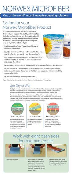 Norwex #microfiber #washing, care and usage instructions. Norwex Washing: www.bit.ly/NorwexWashing