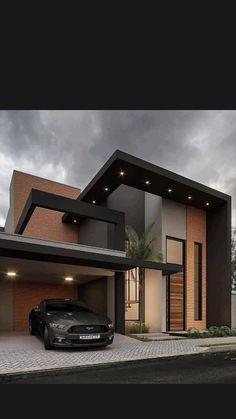 House Arch Design, Architect Design House, House Outside Design, Home Building Design, Bungalow House Design, Modern Small House Design, Modern Exterior House Designs, Black House Exterior, Latest House Designs