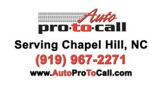 Chapel Hill Honda Service Toyota Repair Chevrolet Maintenance  Auto Pro to Call is the premier auto repair, maintenance and service center for your Honda, Toyota, Chevrolet in Chapel Hill, NC. We specialize  in Honda, Toyota, Volvo, Chevrolet, Audi, BMW, Hyundai, Acura, Domestics, Hyundai, Mazda, Nissan, Volkswagen and other hybrid cars. We are serving Chapel Hill, NC and surrounding communities since 1984. Chapel Hill, Mazda, Volvo, Nissan, Volkswagen, Chevrolet, Toyota, Bmw, Cars