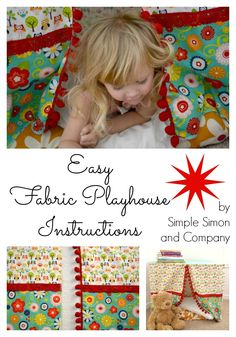 Easy Fabric Playhouse Tutorial - Simple Simon and Company