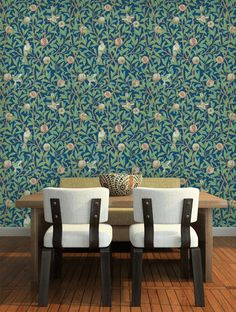 Bird & Pomegranate Wallpaper - By Morris and Co - 212540