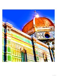 COOl! Duomo, Florence, Italy Premium Poster by Tosh at Art.com