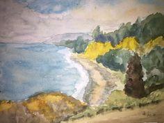 Watercolor Challenge May 2015 - New Zealand Coast - WetCanvas