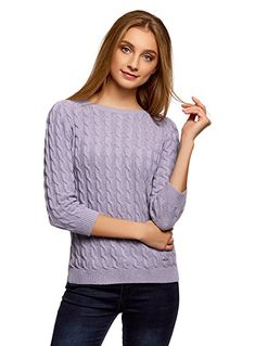 edc by ESPRIT Damen Pullover 028CC1I006, Rot (Bordeaux Red