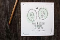 Illustrated wedding invites.