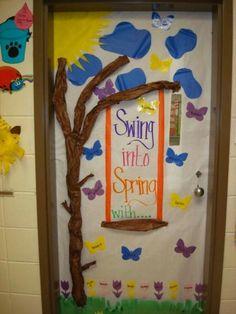 cute bulletin board/door