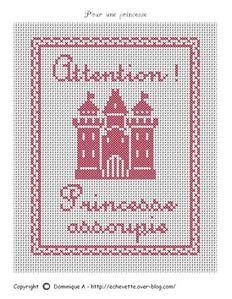 Bébé - baby - princesse - point de croix - cross stitch - Blog : http://broderiemimie44.canalblog.com/