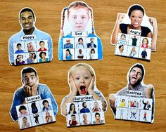 My Emotions Sorting Mats (w/Real Photos) : File Folder Games at File Folder Heaven - Printable, hands-on fun! Aba Therapy Activities, Social Emotional Activities, Early Learning Activities, Autism Activities, Sorting Activities, Visual Learning, Emotions Preschool, Teaching Emotions, Emotions Activities