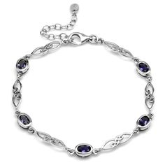 Silvershake Birthstone Gemstones 925 Sterling Silver Celtic Knot 7.25 to 8.75 Inch with Adjustable Extension Bracelet Jewelry for Women (This is an affiliate pin) #nicebracelets Link Bracelets, Jewelry Bracelets, Adjustable Bracelet, Celtic Knot, Birthstones, Knots, Women Jewelry, White Gold, Gemstones