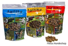 Agility Snack  Agility Snack ist eine besonders leckere Belohnung und eignet sich sehr gut zum trainieren. Ausgezeichneter, halb-weicher Snack für die schnelle Belohnung zwischendurch im praktischen, wiederverschließbaren Beutel!  Die Agility Happen in 3 verschiedenen Geschmacksrichtungen werden sehr gerne angenommen und eignen sich hervorragend für die Ausbildung auf dem Hundeplatz.  Einzelfuttermittel für Hunde  Geschmacksrichtungen :  Lamm & Reis  Lachs & Reis  Ente & Reis