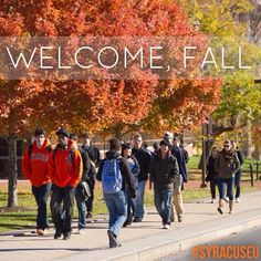 It's officially the most colorful season on the #SyracuseU campus.