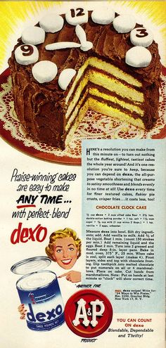 Chocolate Clock Cake, by Hey my mom used to make that