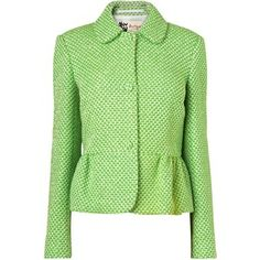Boutique by Jaeger Emma Tweed Jacket, Bright Green