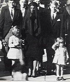 President Kennedy's funeral (his kids, caroline & john- john)