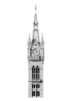 """King's cross St Pancras"" Giclee print sur Papier Hahnemulhe Albrecht Durer 210gr 42x59cm (A2) - signé"