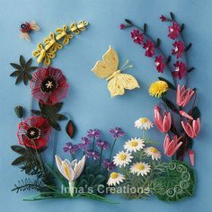 Paper quilling: Flowers of Israel by Inna's Creations, via Flickr    So I would love to learn paper quilling. It's so pretty!!