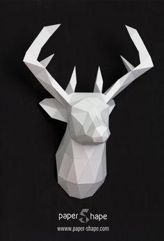 origami 3d hirsch von papershape kunst pinterest origami and 3d. Black Bedroom Furniture Sets. Home Design Ideas
