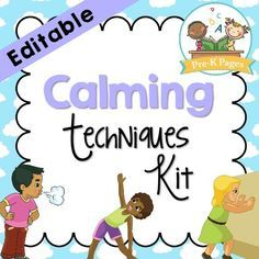 Calm Down Kit for Kids. These calming techniques for kids are perfect to use at home or in the classroom with young children who need help learning to self-regulate and calm down.