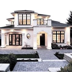 23 Best Modern Mediterranean Homes - For the Home - 23 Best Modern Mediterrane. - 23 Best Modern Mediterranean Homes – For the Home – 23 Best Modern Mediterranean Homes – - Future House, Modern Mediterranean Homes, Mediterranean House Exterior, Mediterranean Architecture, Tuscan Homes, Design Exterior, Exterior Paint, Stucco Exterior, Exterior Colors