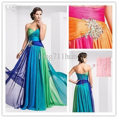 Wholesale Prom Dresses - Buy The New Autumn/winter 2013, Classic Fashion, a Multicolor, Sequins, Nail Bead, Chiffon, Zippers Or Bind Belt, PROM Dresses PD005, $140.0 | DHgate